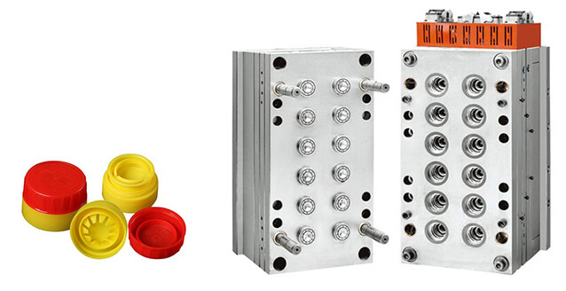 16-cavity Red Lubrication Oil Cap Mould