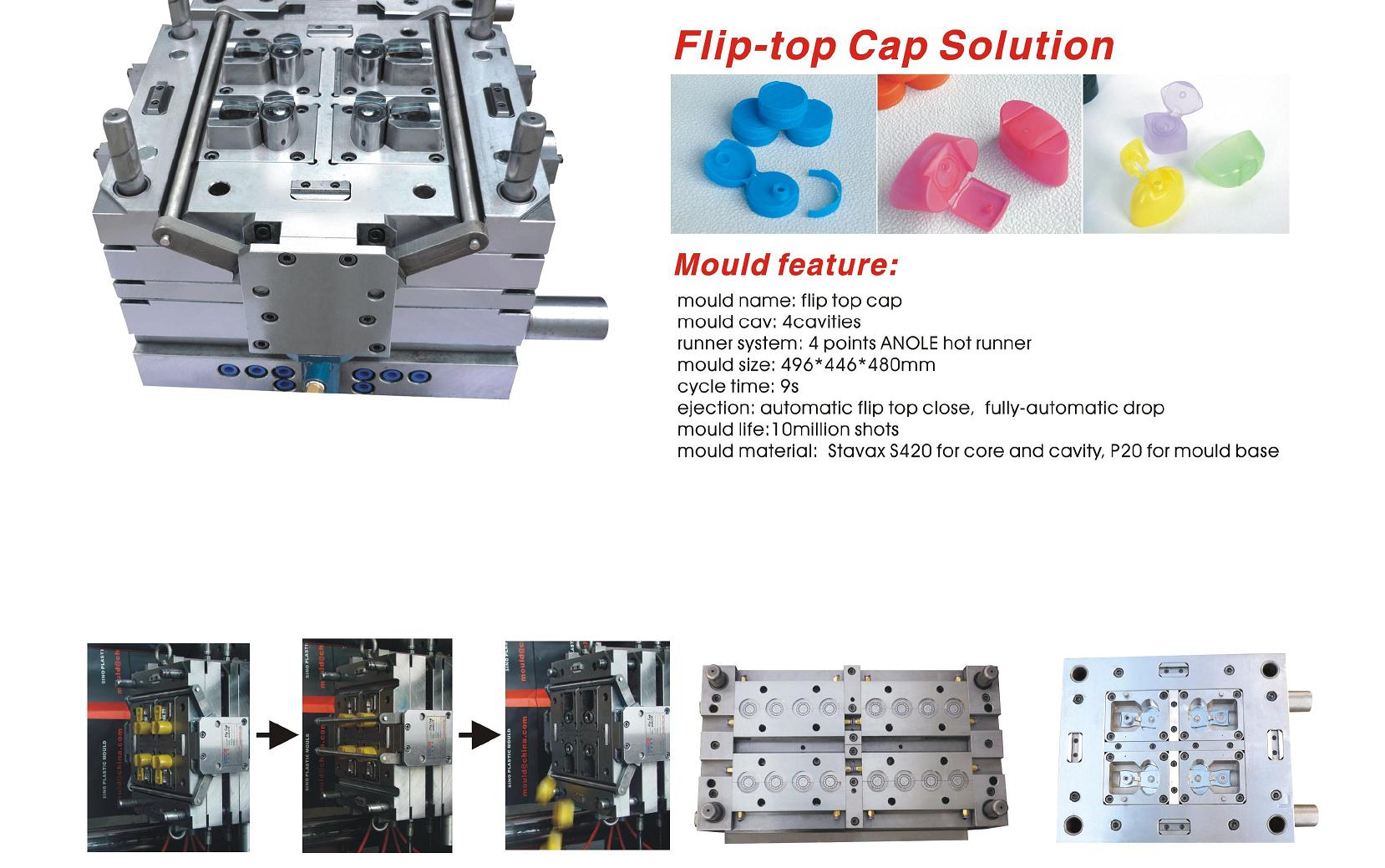 filp top cap mould manufacturer